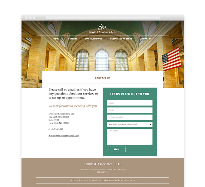Smyle and Associates Accounting Firm Web Design Page – Trillion Creative