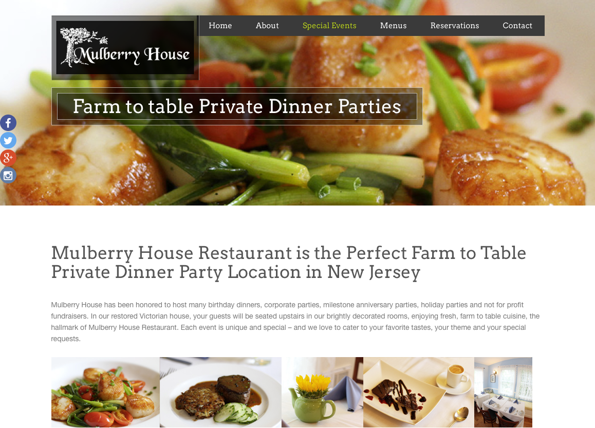Mulberry House Landing Page design to increase search engine optimization SEO