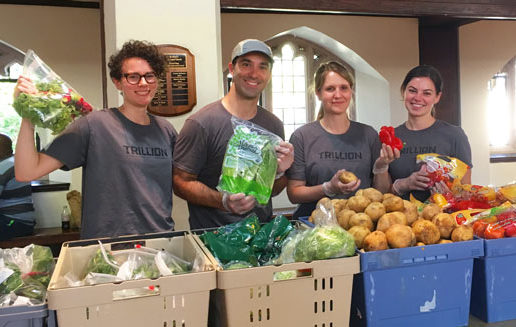 Trillion community service not-for-profit soup kitchen giving back volunteer poverty food waste