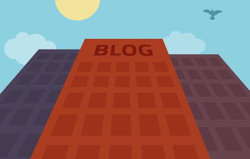 Blogging building illustration SEO keywords writing Trillion marketing web design