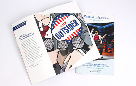 Theater Brochure Design Angles The Outsider