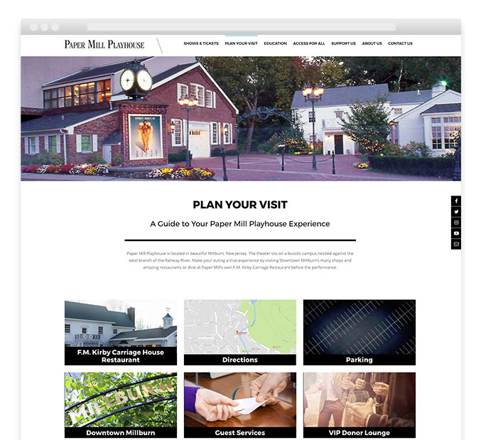 trillion design agency website development paper mill playhouse not for profit wordpress cms