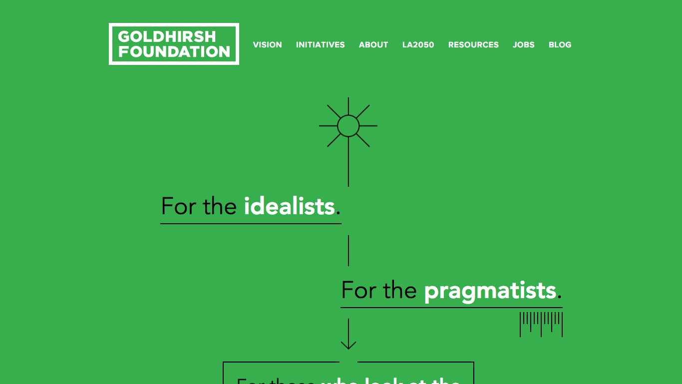 goldhirsh foundation typography web design