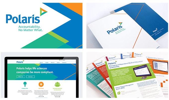 polaris branding assets letterhead website folder brochure print design web