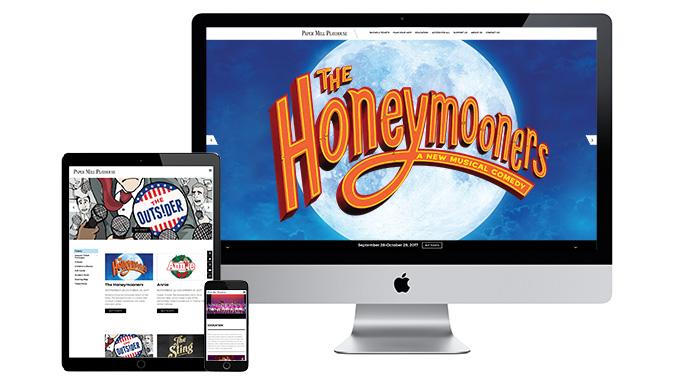 paper mill playhouse website redesign wordpress development
