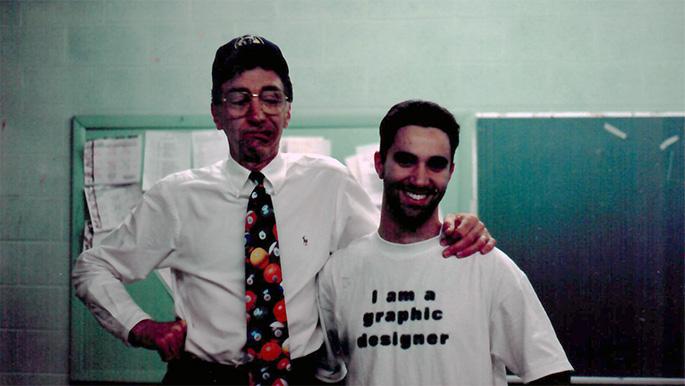 Lou Leonardis Peter Caras 1995 (I am a graphic designer)