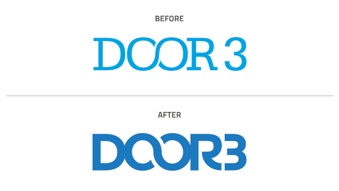 Door3 Logo Refresh Before After Design Agency NJ