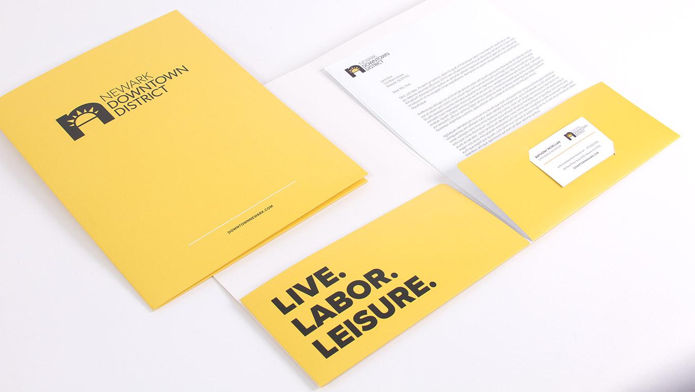 Downtown District Rebranding Folder Business Card Letterhead Design ...