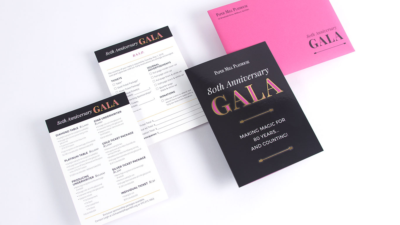 Paper Mill Playhouse Gala Branding And Invitation Design Trillion